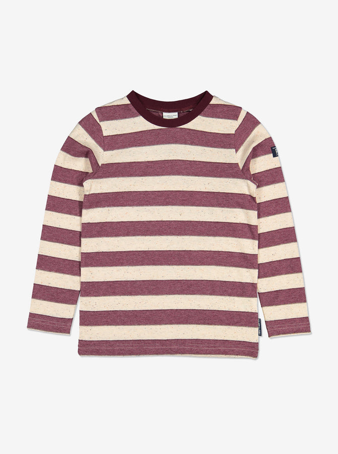 Unisex Purple Striped Kids Top 1-12y