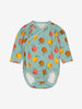 Girls Blue Apple Print Baby Bodysuit 0-6m