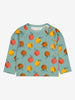 Girls Blue Apple Print Baby Top 6m-1y