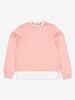 Girls Pink Frilled Collar Kids Sweatshirt 6-12y