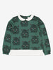 Girls Green Animal Print Kids Sweatshirt 6-12y