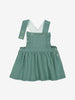 Girls Green Baby Pinafore Dress 0-1y