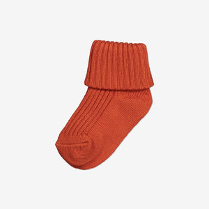 Unisex Red Baby Socks 0-1y