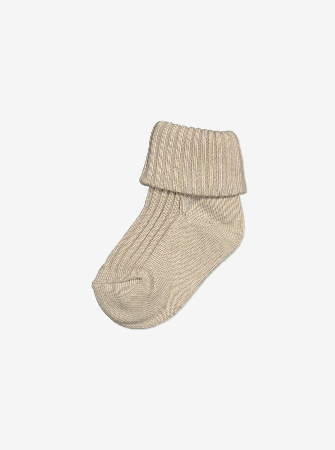 Unisex Brown Baby Socks 0-1y