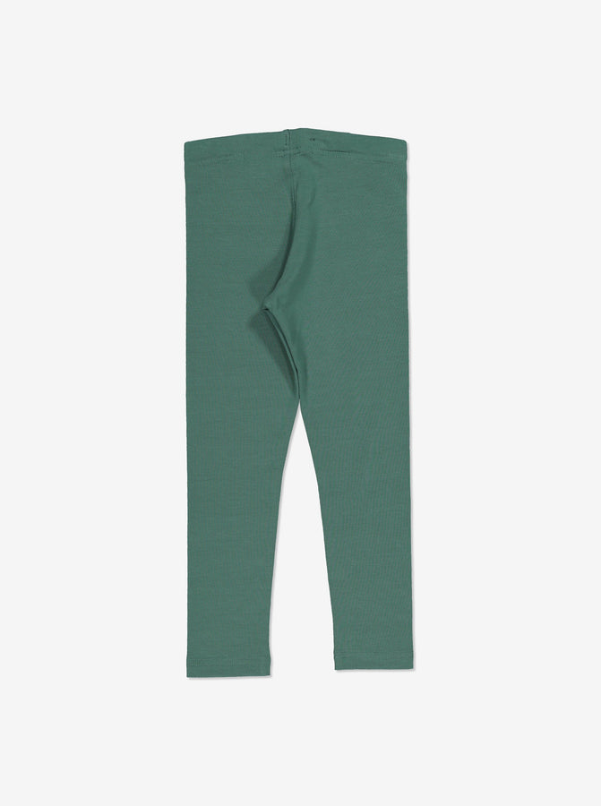 Girls Green Organic Kids Leggings 1-12y