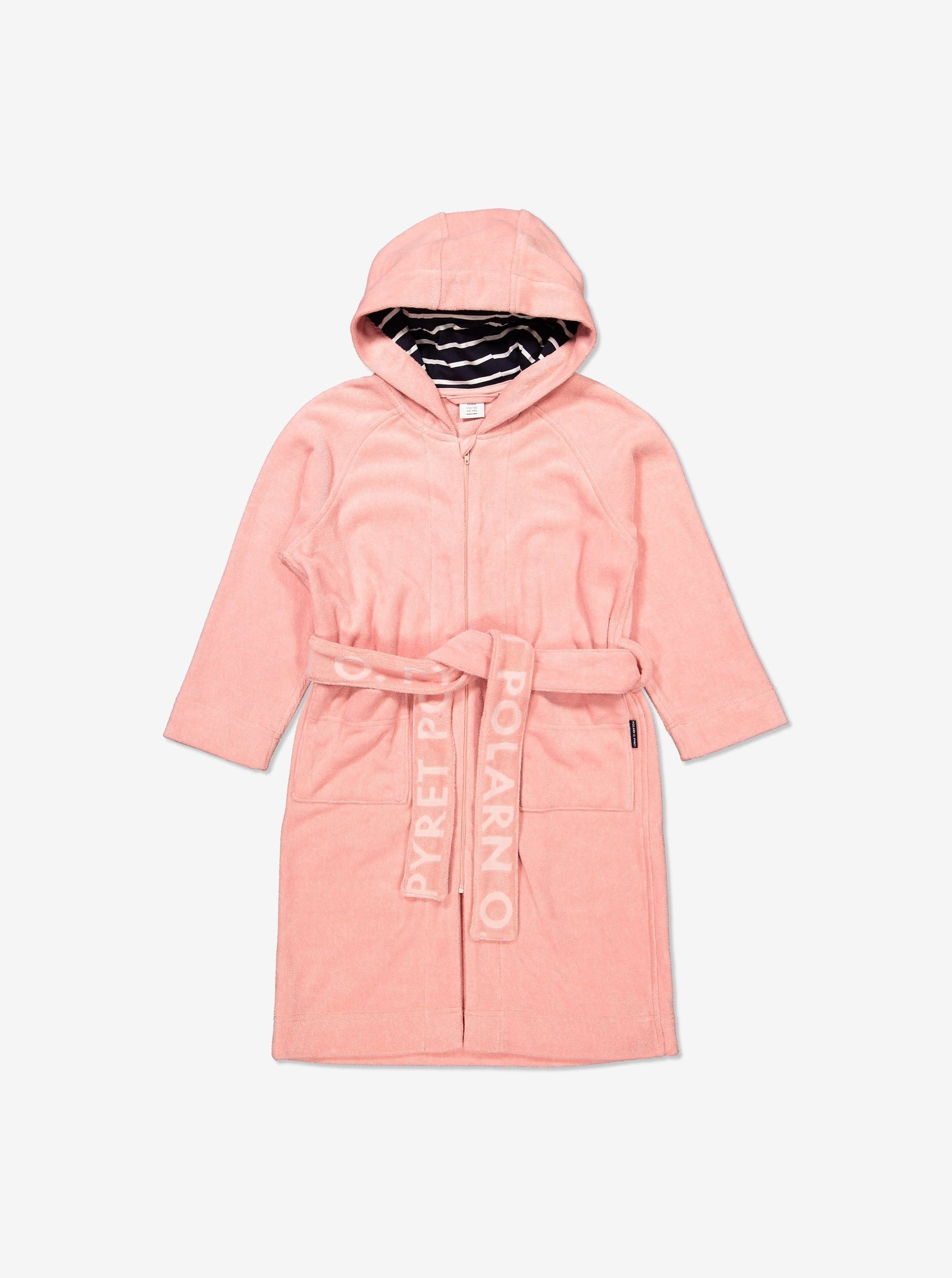 Kids Organic Cotton Pink Dressing Gown Bathrobe