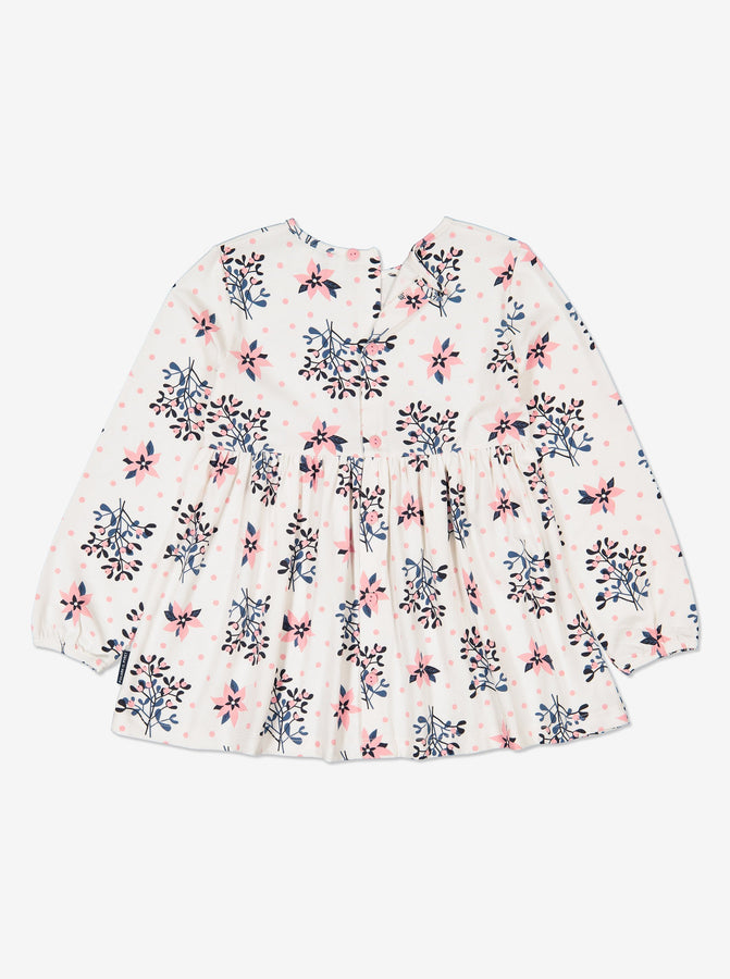 Kids Organic Cotton Mistletoe Print Top 1-8years Natural Girl