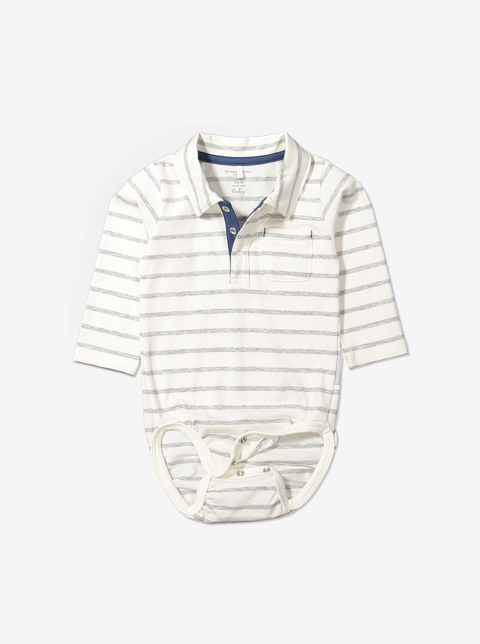 Wraparound Striped Shirt Baby Newborn Babygrow 0-6months Natural Boy