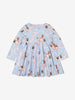 Kids Cindarella Organic Cotton Dress 1-8years Grey Girl