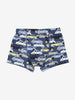 Boys Organic Cotton Navy Blue Car Print Boxer Shorts