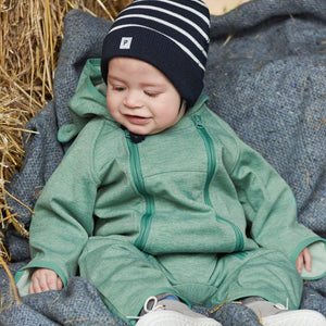 Striped Navy Organic Octton Baby Beanie