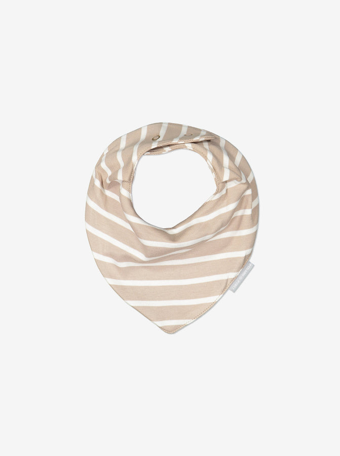 2 Pack Striped Baby Brown Bib
