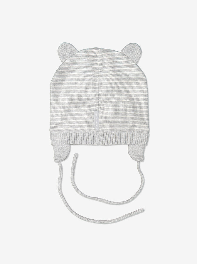 White Organic Cotton Baby Hat