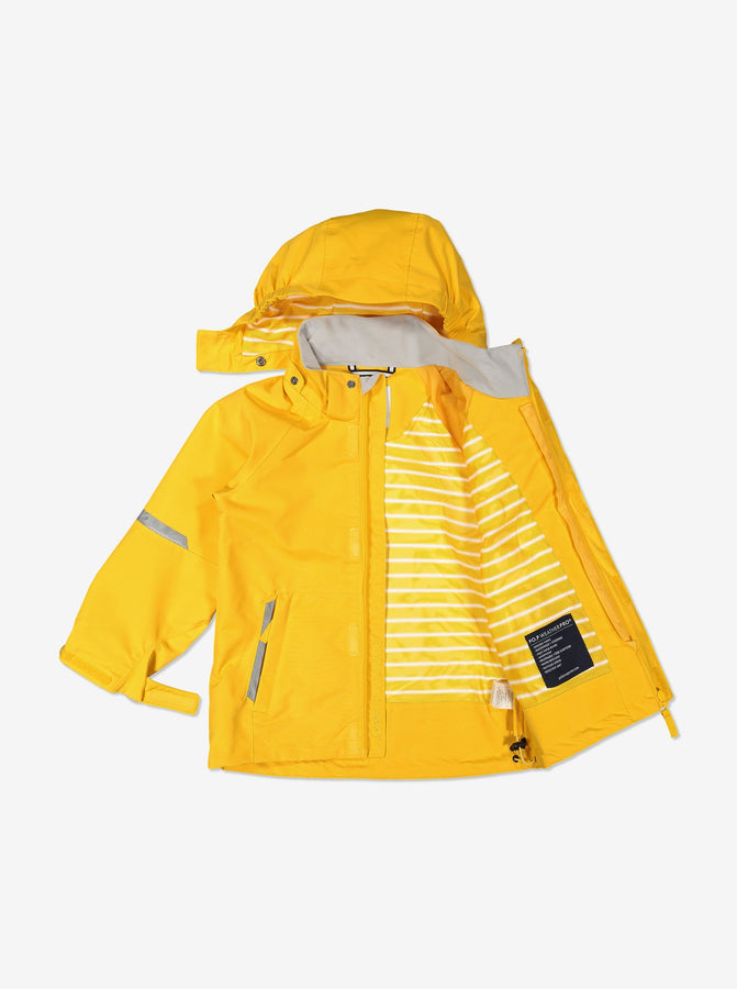 Kids Yellow Waterproof Shell Jacket