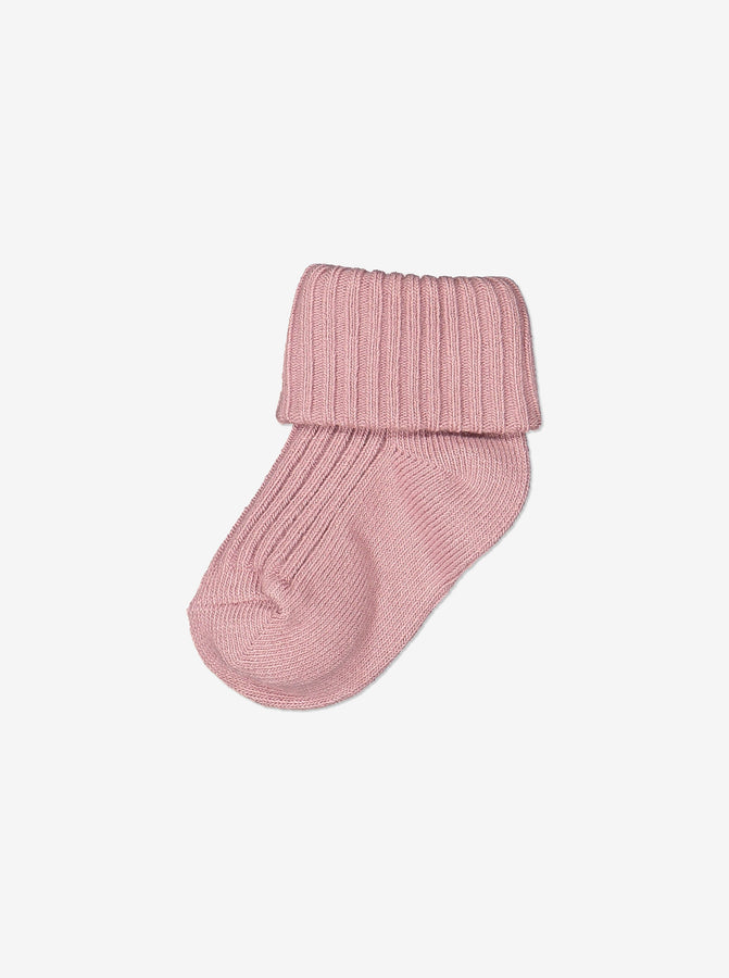 Newborn Baby Organic Cotton Pink Socks
