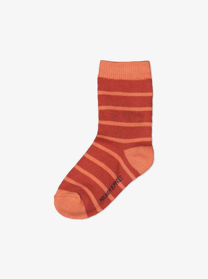 2 Pack Kids Orange Socks