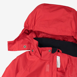 Kids Red Waterproof Shell Jacket
