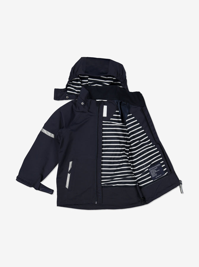 Kids Navy Blue Waterproof Shell Jacket