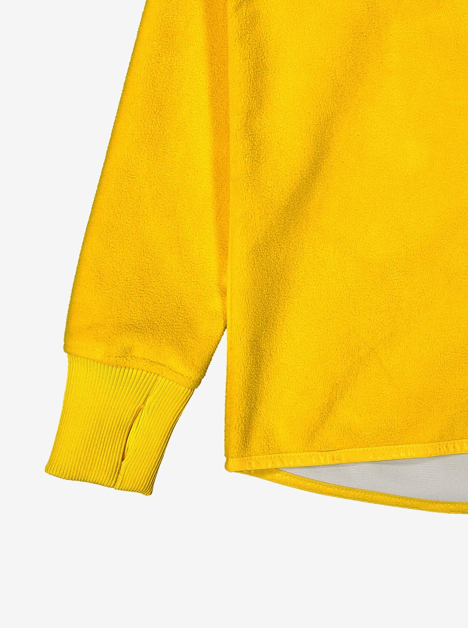 Kids Yellow Fleece & Waterproof Jacket