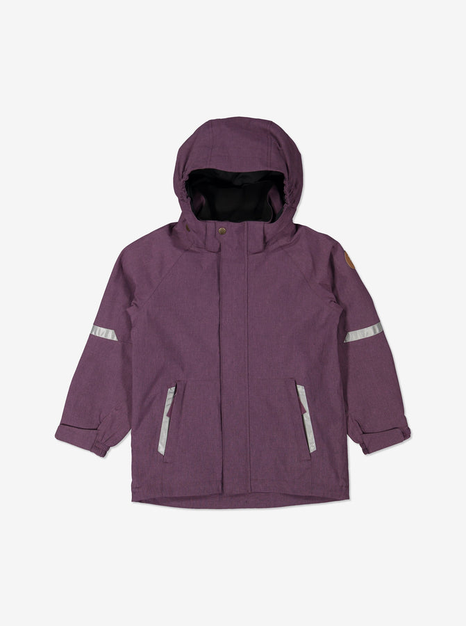 Kids Purple Waterproof Shell Jacket