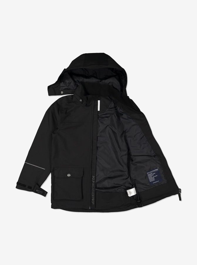 Kids Black Waterproof Shell Jacket
