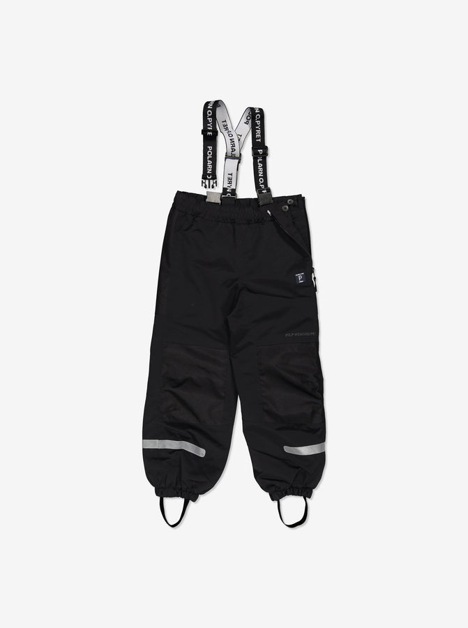 Kids Black Waterproof Shell Trousers