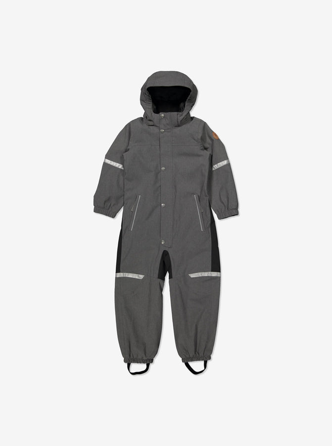 Kids Grey Waterproof Shell Lined Overall