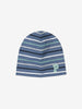 Striped Kids Blue Beanie Hat