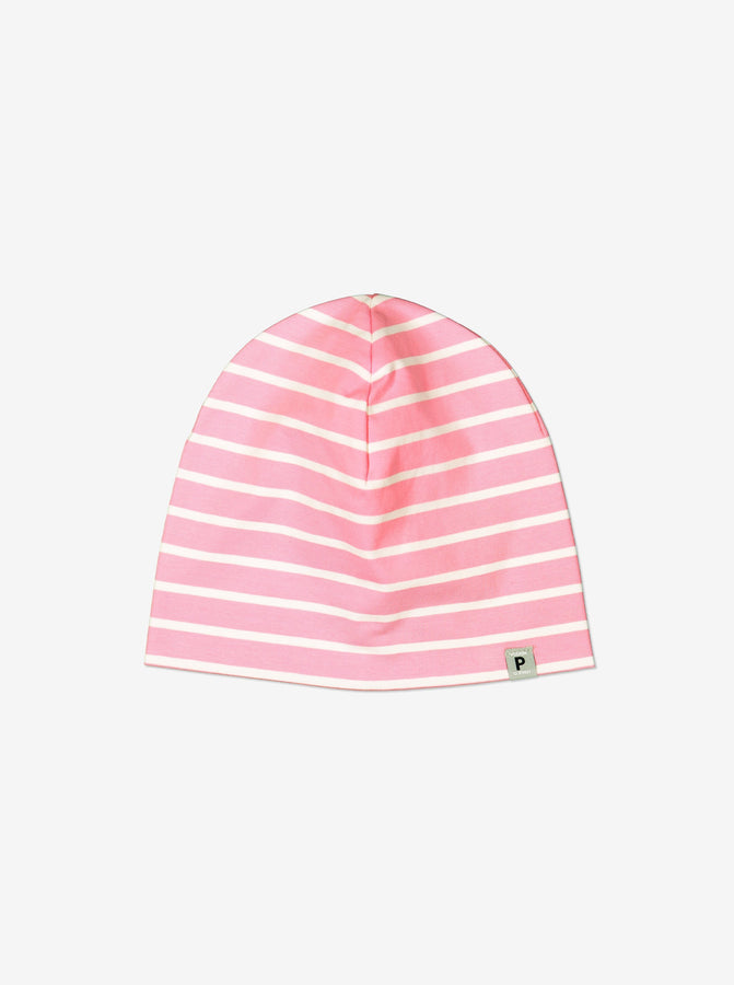 Pink Organic Cotton Kids Beanie Hat
