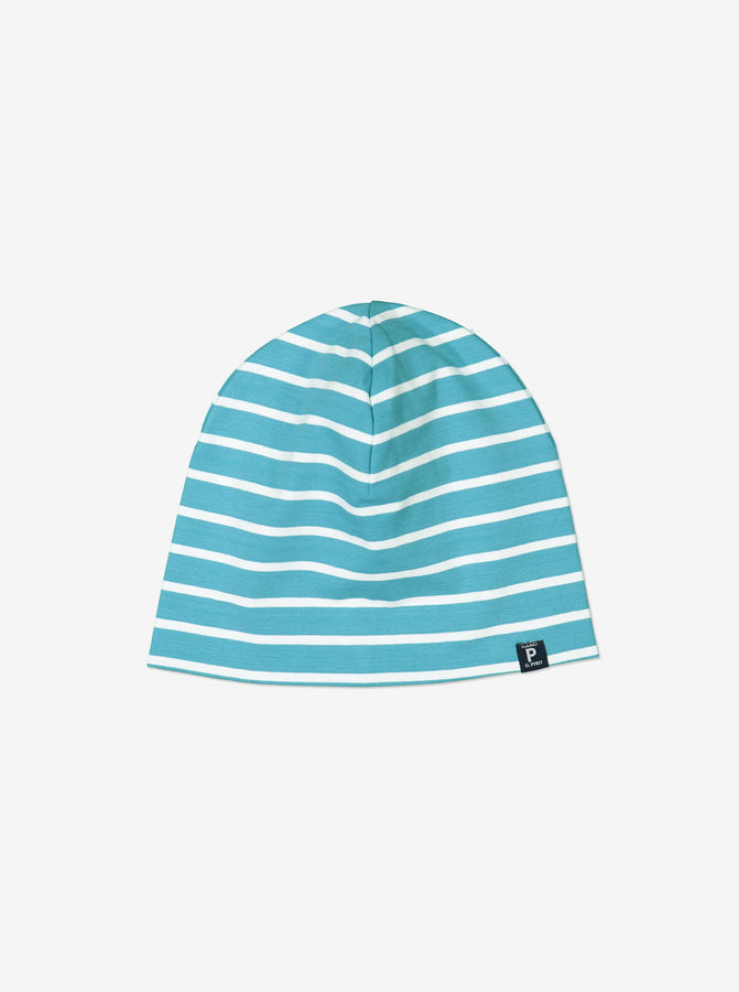 Blue Organic Cotton Kids Beanie Hat