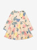 Girls White Heart Print Kids Dress
