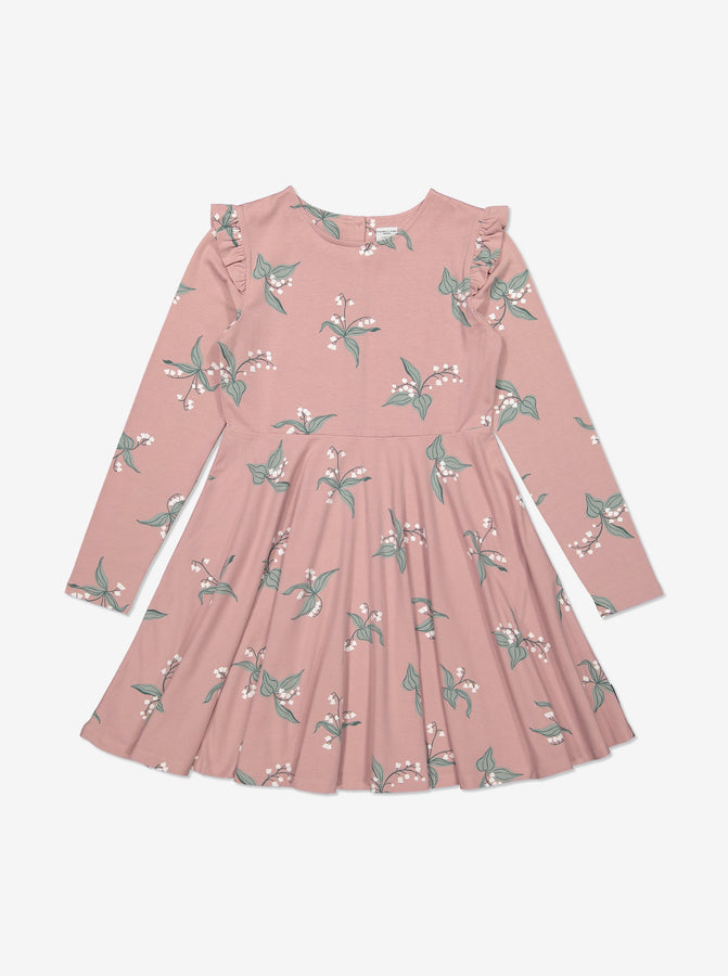 Girls Pink Organic Cotton Lily Dress