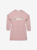Girls Pink Organic Sweatshirt Dress