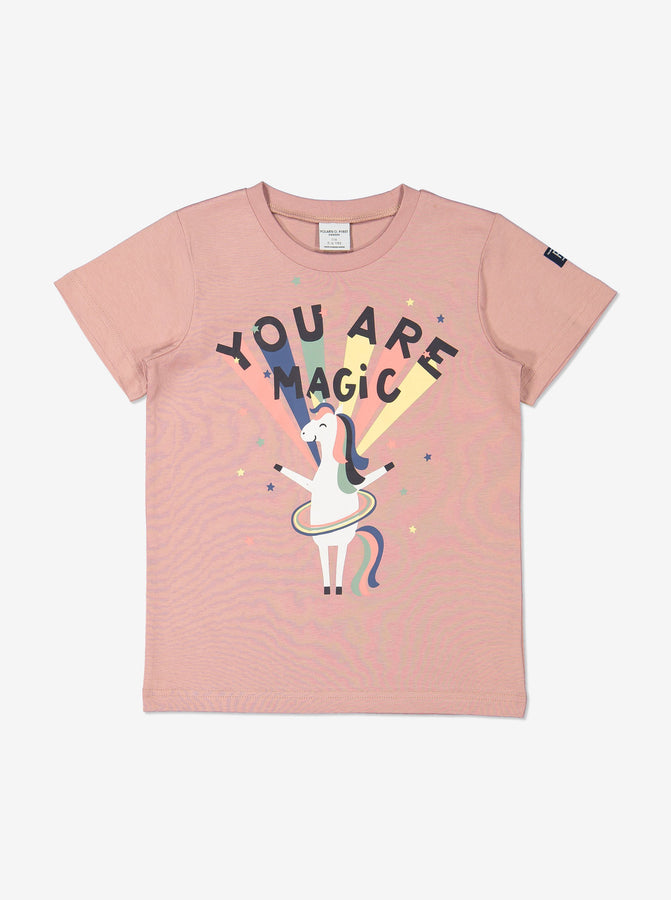 Girls Organic Cotton Pink T-Shirt