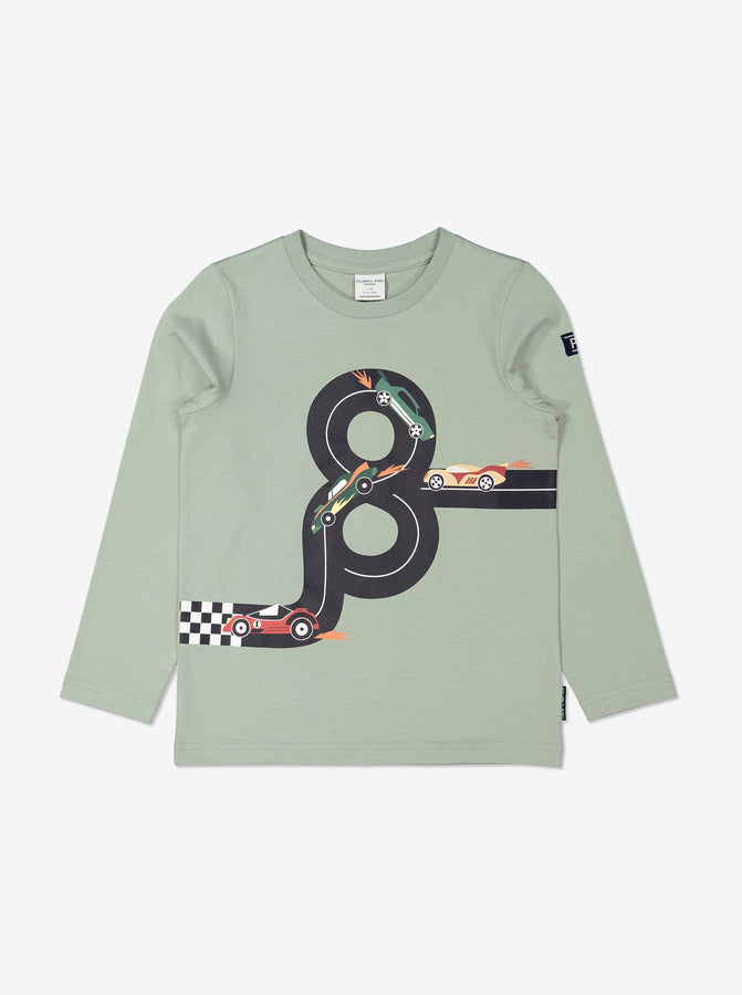 Boys Racing Car Green Top