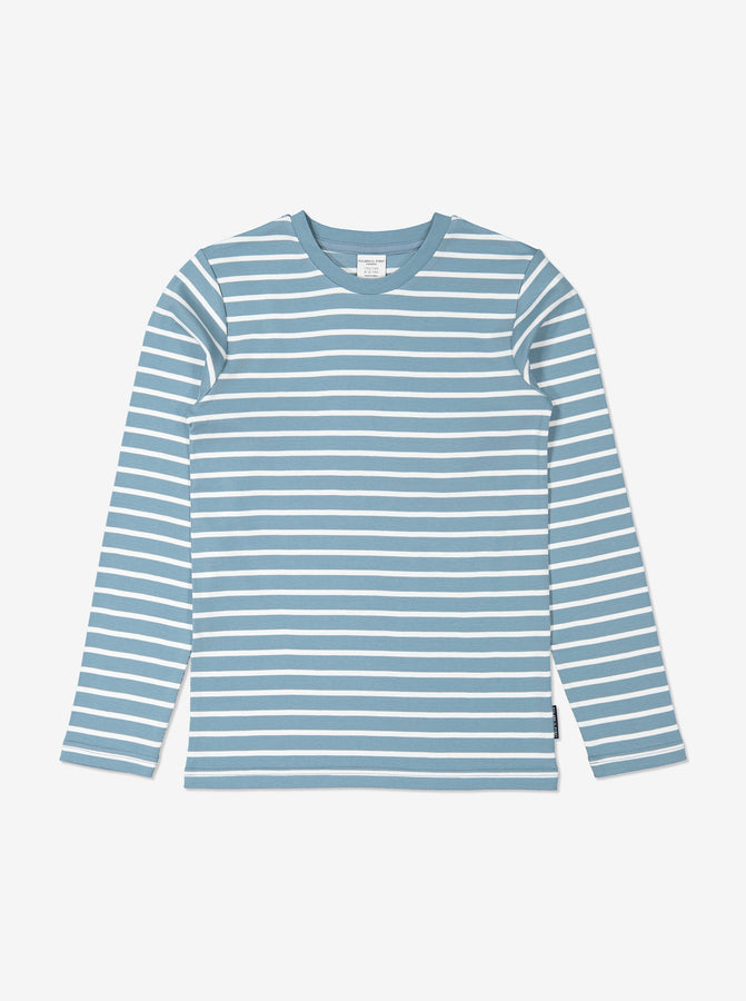Kids Blue Striped Organic Top