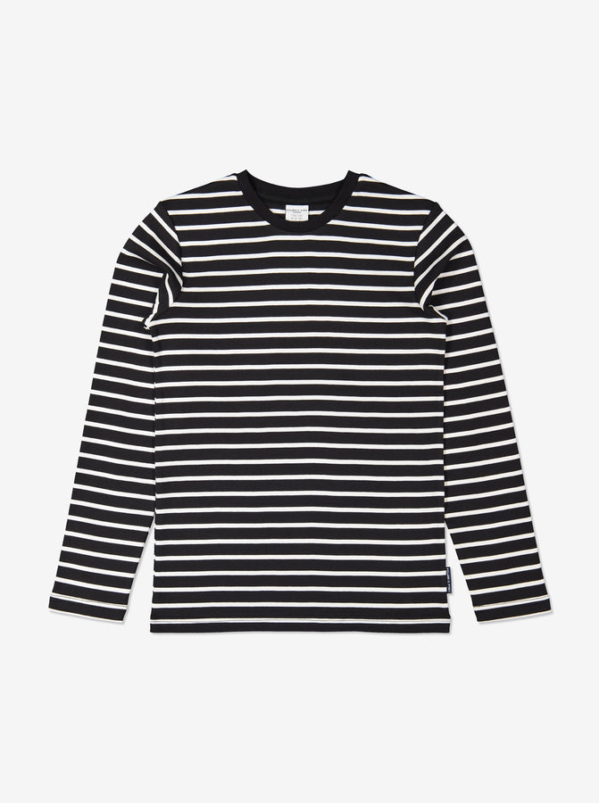 Kids Black Striped Organic Top