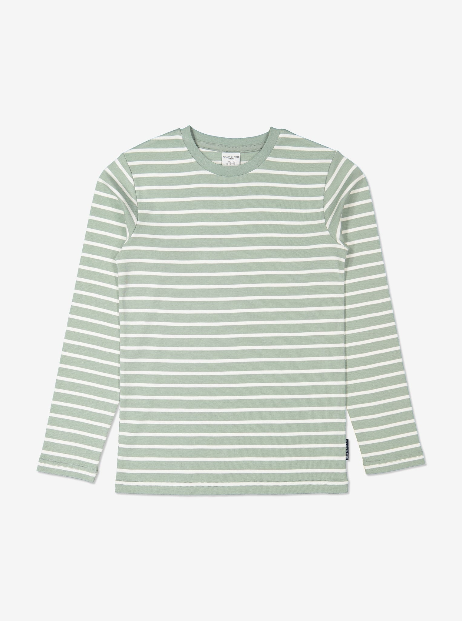 Kids Green Striped Organic Top