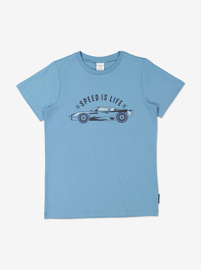Boys Organic Blue T-Shirt