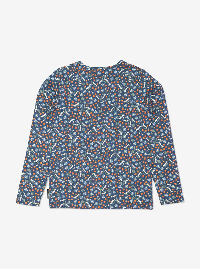 Girls Blue Kids Floral Top
