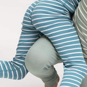 Kids Striped Organic Leggings