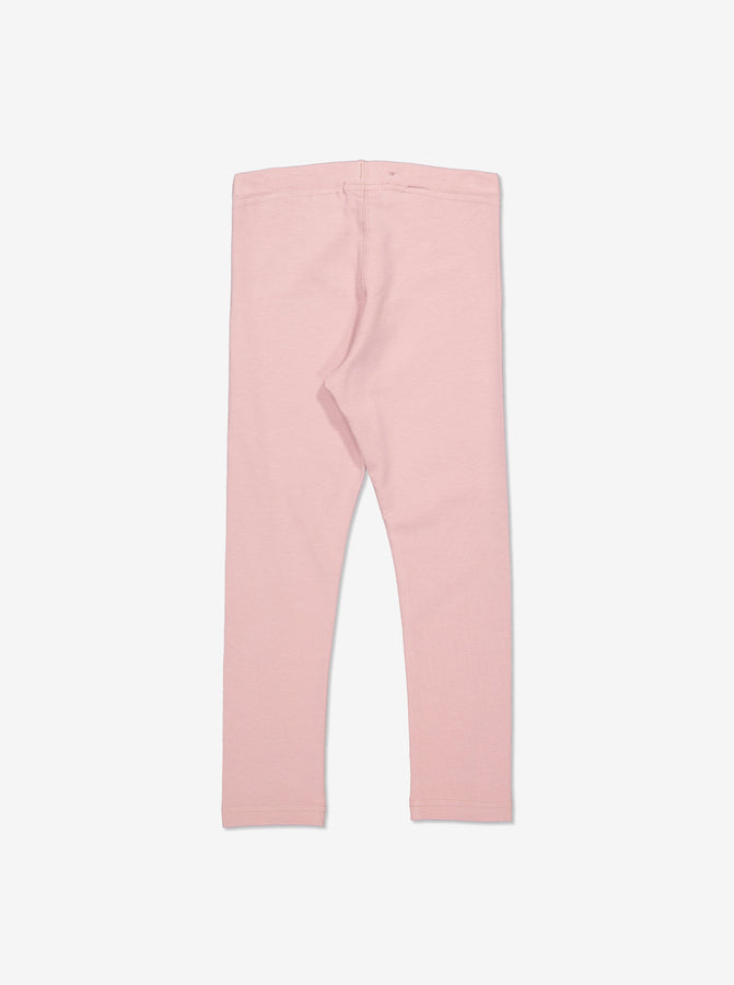 Girls Organic Cotton Pink Leggings