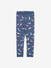 Boys Blue Racecar Print Organic Kids Leggings