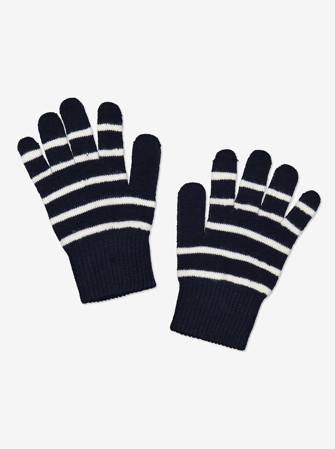Navy Magic Wool Kids Gloves