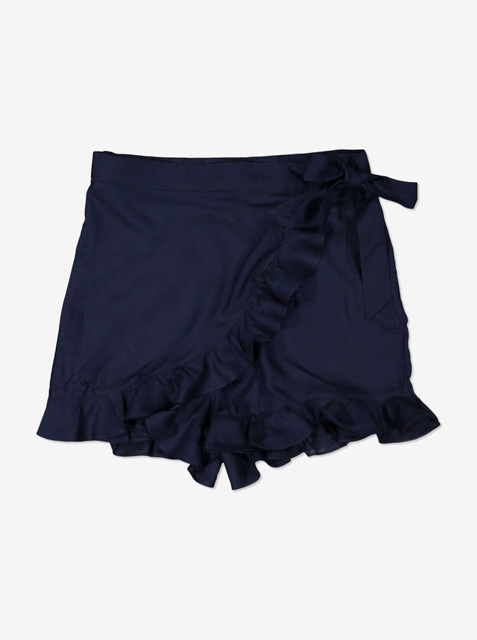 Girls Navy Kids Woven Skirt Shorts