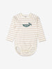 Unisex Natural Striped GOTS Babygrow