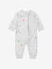 Boy Grey Organic Cotton Newborn Baby Overall