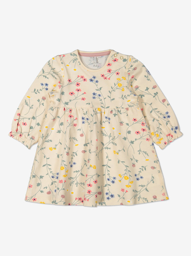 Girl Natural GOTS Organic Floral Dress