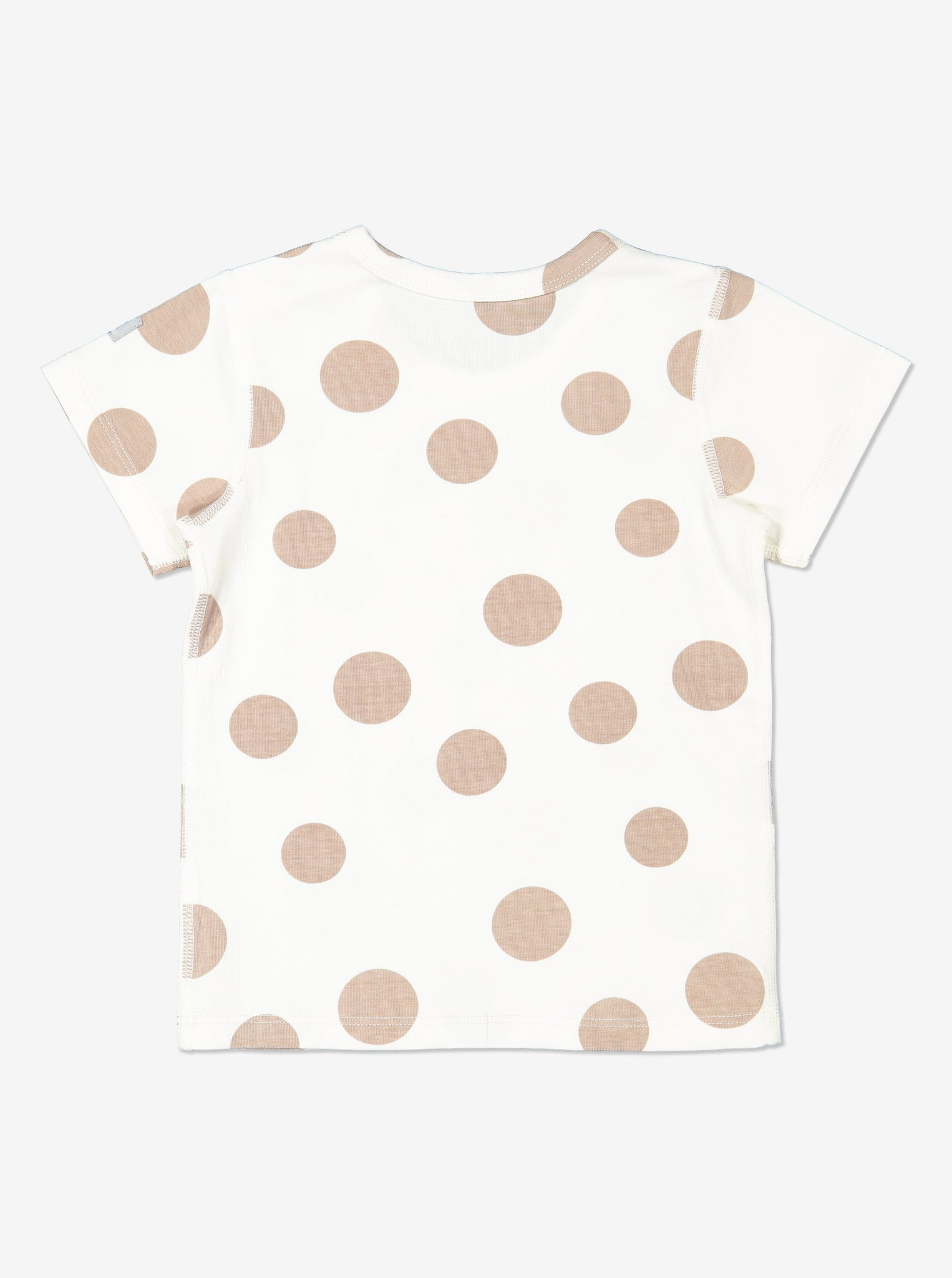 Unisex Natural GOTS Organic Spotty Baby T-Shirt