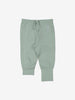 Unisex Green Organic Cotton Newborn Baby Trousers